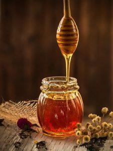 Honningkrukke med skje